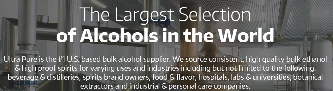 Meet Ultra Pure: Largest Selection of Bulk Alcohols in the World at IBWSS